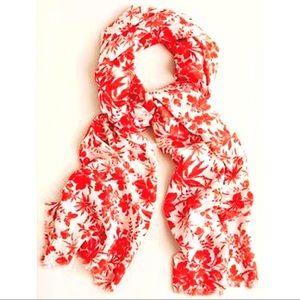 J. Crew floral-printed lightweight 100% wool scarf